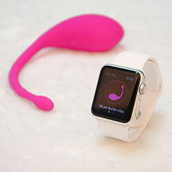 A new vibrator can be controlled by Apple Watch.