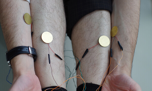 Rory transforms sex into sound with sensors placed on different parts of the body.
