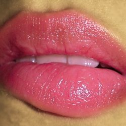 A pair of pink sensual lips.