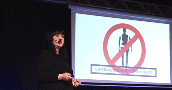Kathleen Richardson speak about the ethics of sex robots at a TedX Talk.