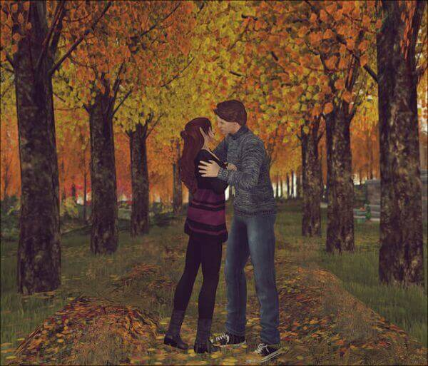 Autumn smooch