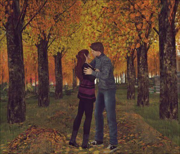 Autumn smooch