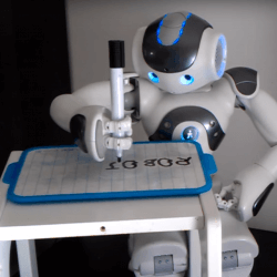 NAO robot writing