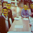 A photos showing facial recognition tech in action.