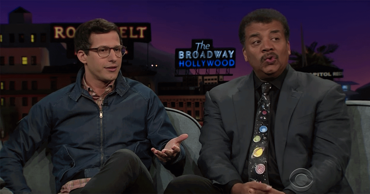 Andy Samberg asks Neil deGrasse Tyson about robot sex.
