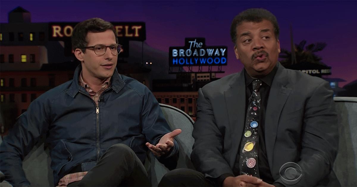 Andy Samberg asks Neil deGrasse Tyson about robot sex.