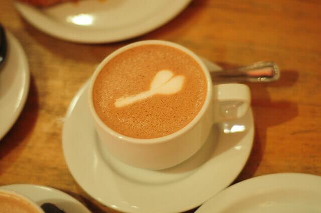 phallic coffee art