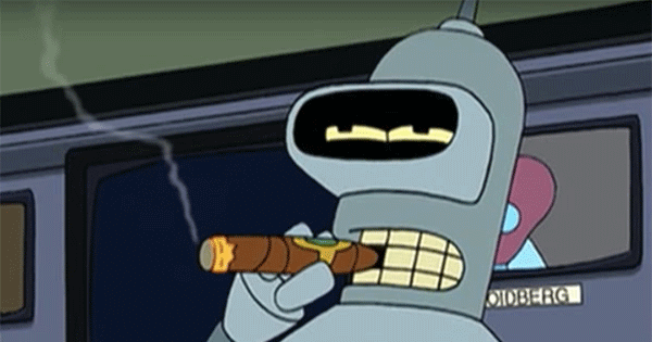 Bender the robot from Futurama has some sizzling romances.