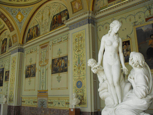 Statue of Pygmalion and Galatea at Hermitage State Museum.