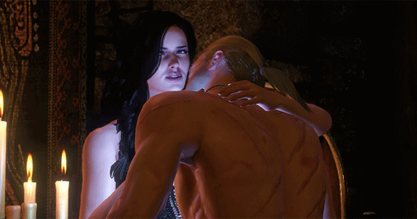 Video game The Witcher features sizzling sex scenes.
