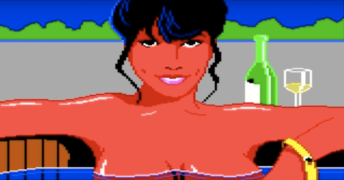 A screenshot from Leisure Suite Larry, the video game.