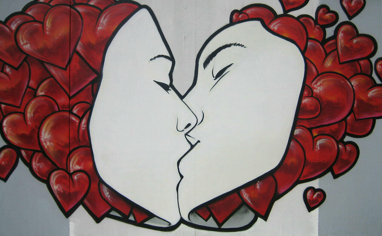 kiss graffiti