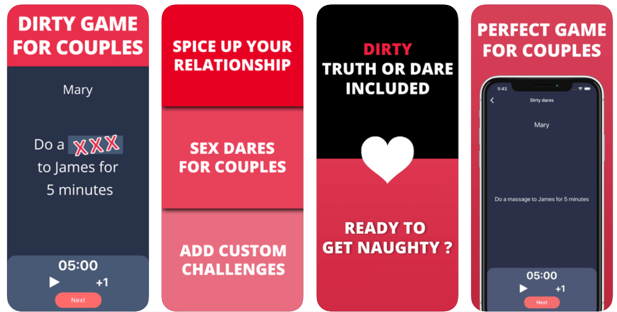 Dirty Dares is a hot sex game for couples.