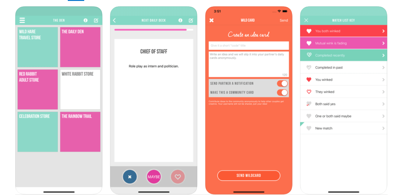 Kindu is a hot sex game app for couples.