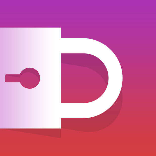 A white lock in front of a redish pink background is the Diskreet app logo.