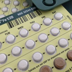 A set of birth control pills.