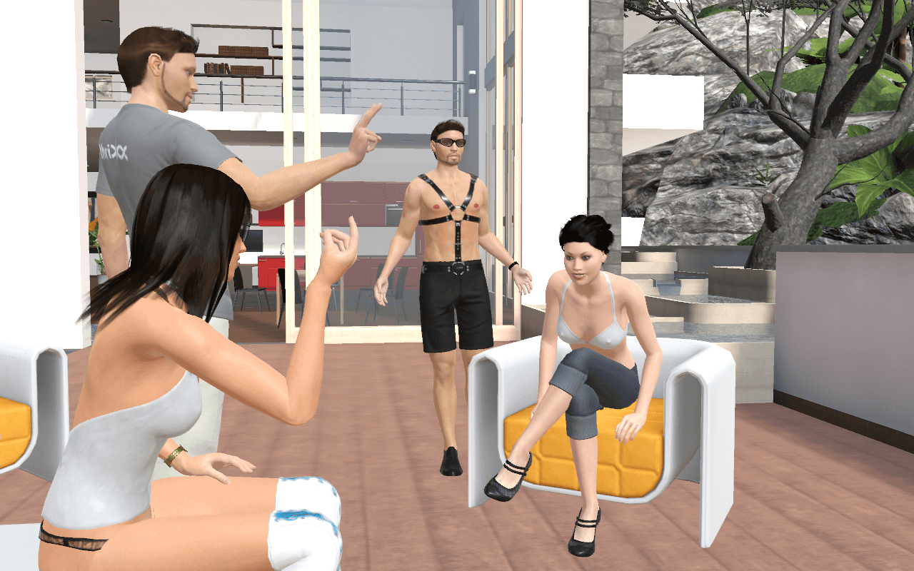Chathouse 3D is a multiplayer 3D sex game that lets up to four characters play at a time.