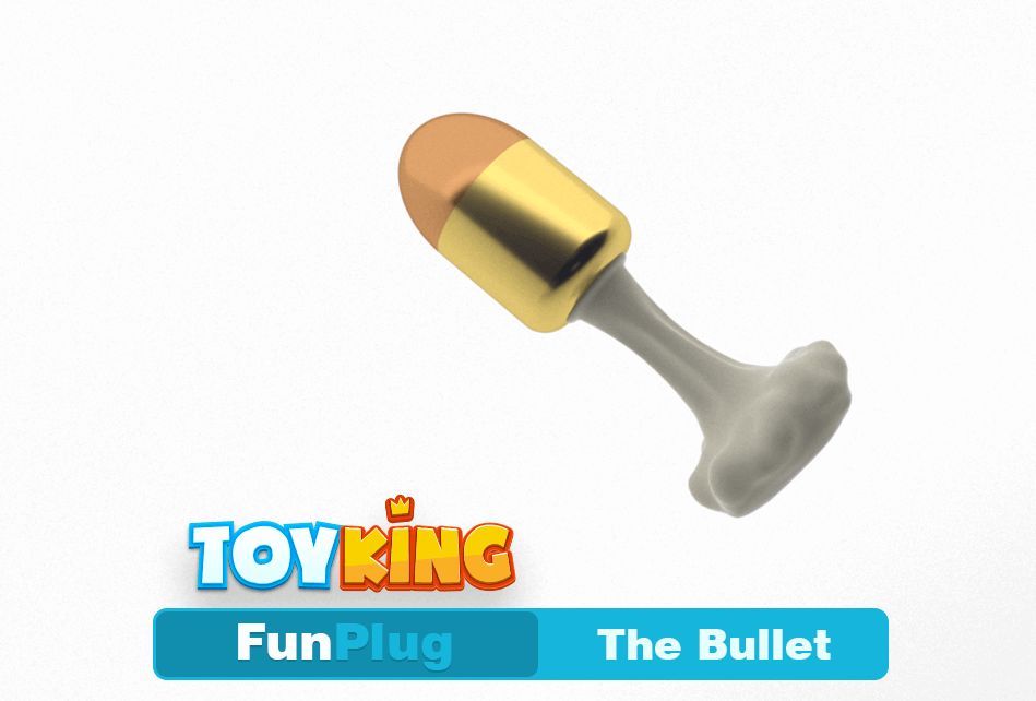 A 3D-printed buttplug shaped like a bullet.
