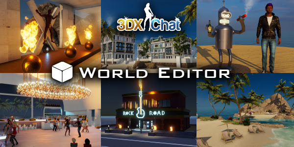 Virtual sex game 3DXChat lets users build their own sex worlds with the World Editor.