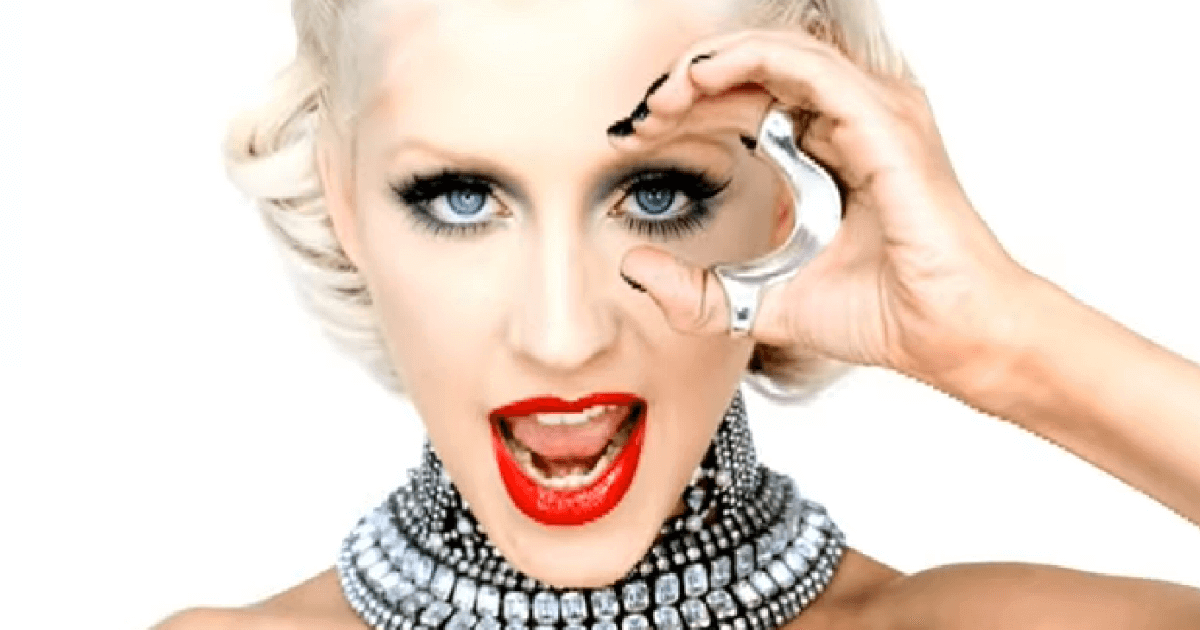 "A screenshot of singer Christian Aguilera from her music video ""Not Myself Tonight."""