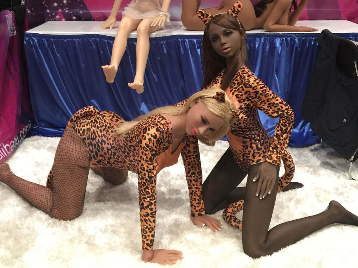 Sex dolls from the 2018 AVN Adult Entertainment Expo in Las Vegas.