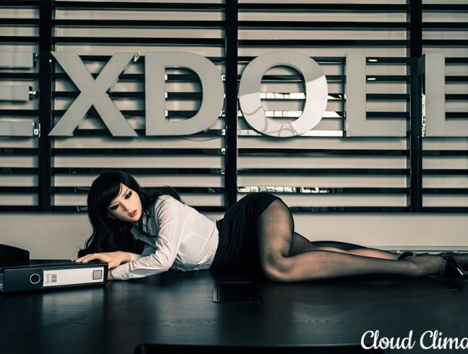 DS Doll sex doll with office file via Cloud Climax