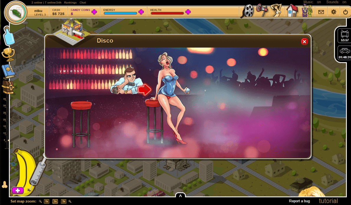 A screenshot of one of the best cartoon sex games called Sweet State.