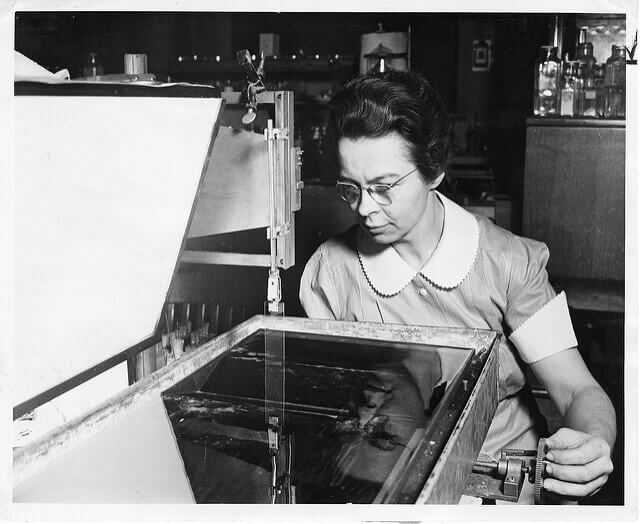 A photo of physicist Katharine Burr Blodgett.