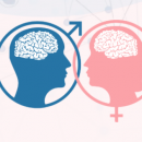 Icons of a man and woman's face inside of their respecitive gender signs are shown.