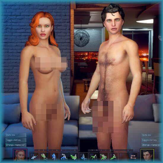 Create a virtual sex partner