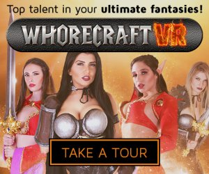 Enjoy the immersive VR porn parody experience of WhoreCraftVR.