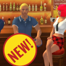 Online sex game Yareel shows four avatars wearing new role-playing costumes for schoolgirls, businesmen, and office clerks.