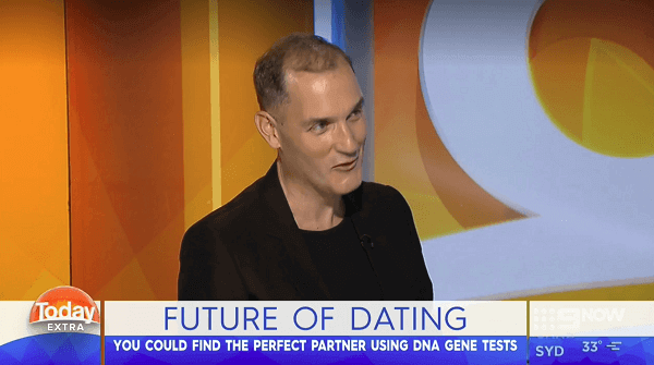 Futurist Ross Dawson appears on the morning show Today in Australia to talk about the future of dating.