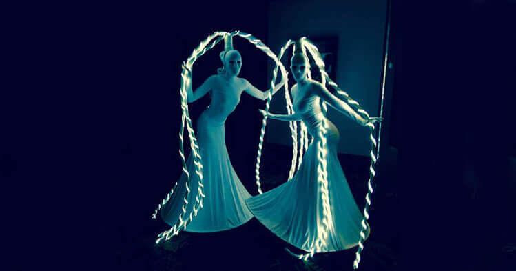 Ladies in vivid light
