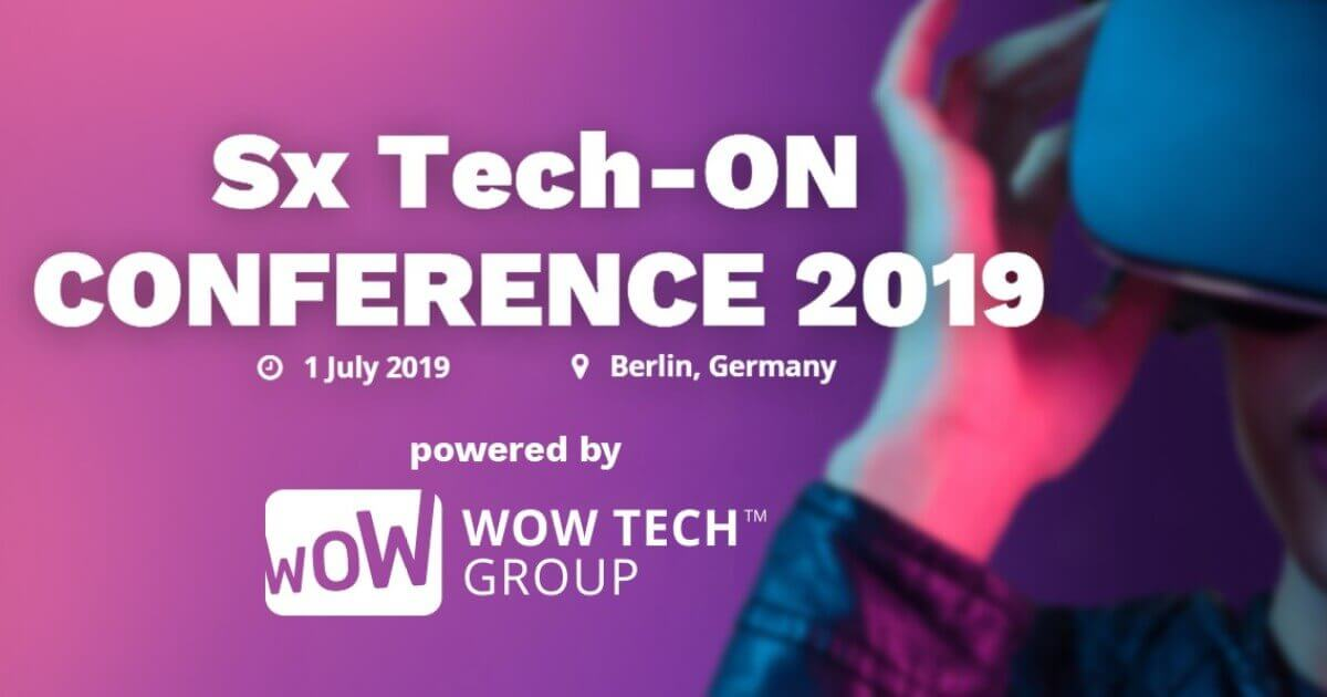 "Text appears saying ""Sx Tech on Conference 2019"""