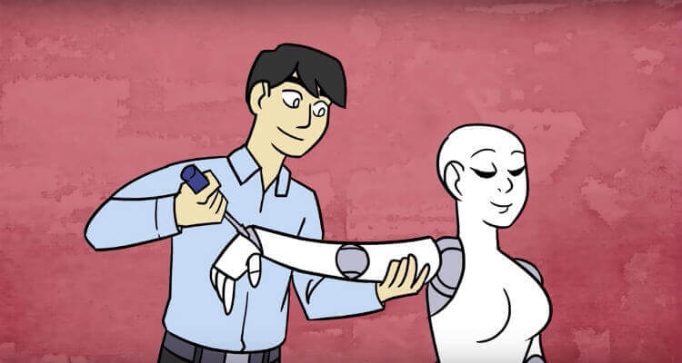 Cartoon of SexRobots