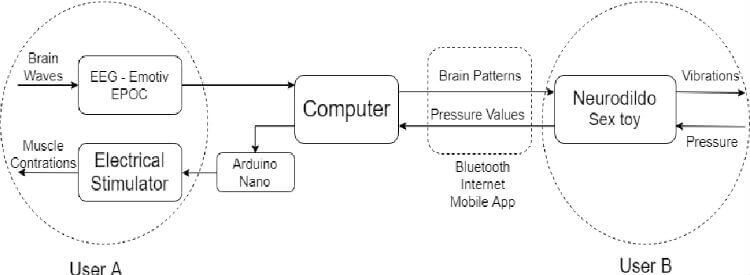 Block diagram of the Neurodildo