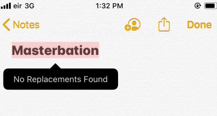 Masterbation Autocorrect