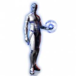 Screenshot of Liara in Mass Effect 3