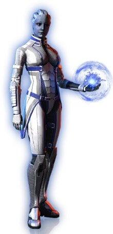Screenshot of Liara in Mass Effect 3