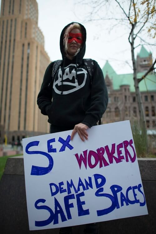 Sex Workers Demanding Safe Spaces