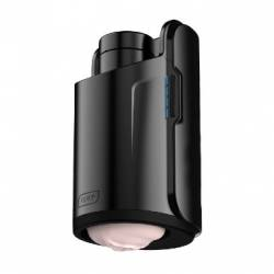 The Keon interactive penis stroker from Kiiroo is black and flesh toned.