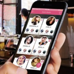 dating app mobile screen