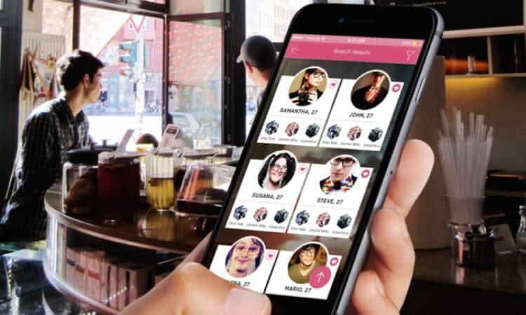 dating app mobile screen