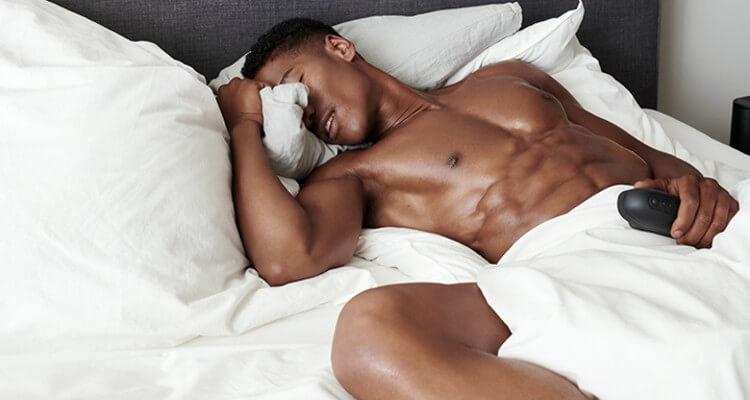 Image of a black men using Arc Ion Pleasure Air Stroker