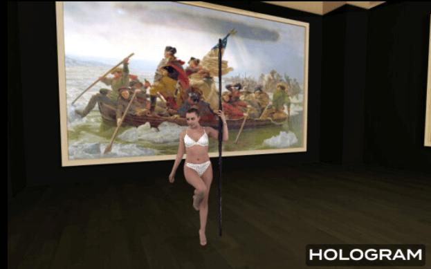 Naughty America virtual strip club with holograms