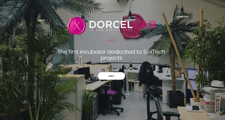 Screenshot of Home Page of DORCEL Lab; a pioneer in producing and distributing adult video on demand and virtual reality content