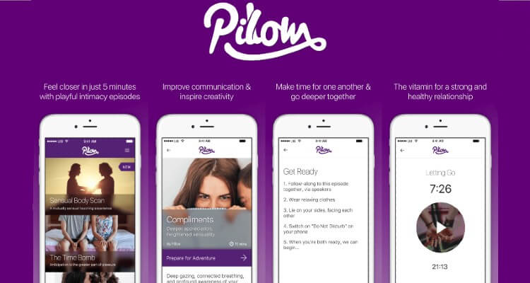 Screenshot of Pillow App displaying their features with various app screens