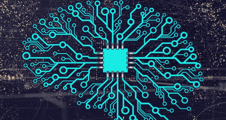 Image of Computer Chip and Electronic Circuit