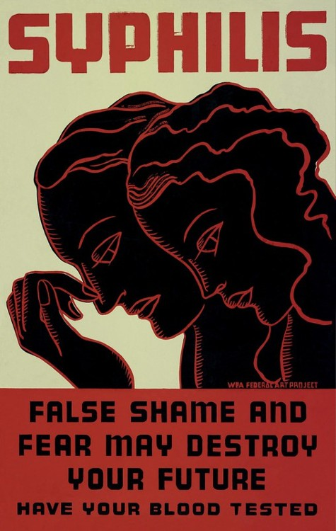 Screenshot of a Awareness Banner About Syphilis Shame and Fear